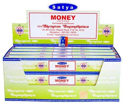 Satya Money - Twelve 15 Gram Boxes - Satya Sai Baba Incense