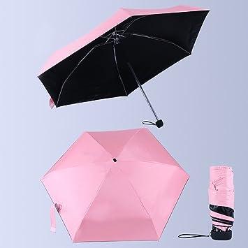 SDYDAY Mini Paraguas de Viaje Plegable Unisex Al Aire Libre Paragüe Parasol Resistente al Viento AntiUV