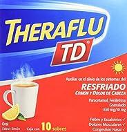 Theraflu TD, Auxiliar en el alivio de los síntomas del resfriado común, sabor limon, 10 sobres