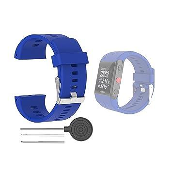 Hensych® Deporte Correa De Reloj De Repuesto Para Polar V800 GPS reloj deportivo con herramientas, azul: Amazon.es: Deportes y aire libre