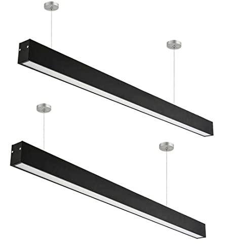 4 FT Dimmable LED Luz linear, Linkable Suspension Lighting ...