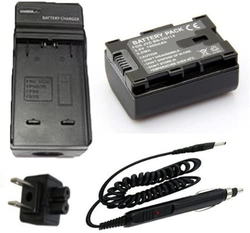 GZ-HD520BUS Smart Slim Micro USB Battery Charger for JVC Everio GZ-HD500BUS GZ-HD620BUS HD Hard Drive Camcorder