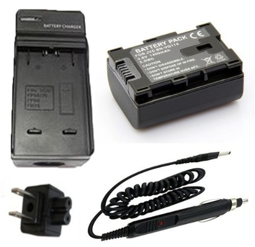 Battery + Charger for JVC Everio GZ-EX210AU, GZ-EX210BU, GZ-