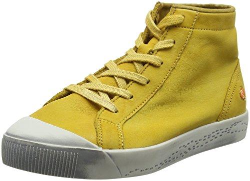 Softinos Damen Kip448sof Gewassen Hohe Sportschoen Gelb (geel)