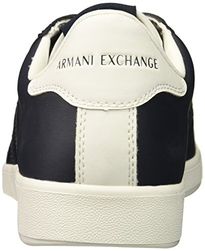 A Navy X Tonal Armani Sneaker Cut Low Exchange Logo Men zzSgxqr