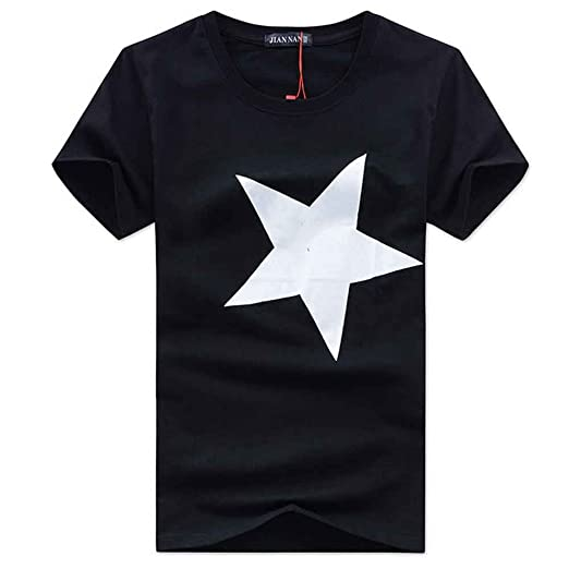 ec96316a0 Mens T Shirts Graphic Men Fashion Cotton Shirts Star Print Short Sleeve  T-Shirt Casual