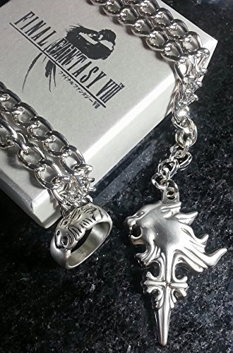 - Final Fantasy VIII Squall Griever Necklace & Ring | FF8 Cosplay Dissidia Cloud Serah Lightning Anime