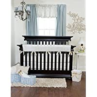 Glenna Jean Central Park Convertible Crib Rail Protector, Blue/Chocolate/Tan/White, Long