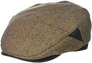 Henschel Hats Mens 100% Italian Wool Herrringbone Plaid Ivy Hat Newsboy Cap