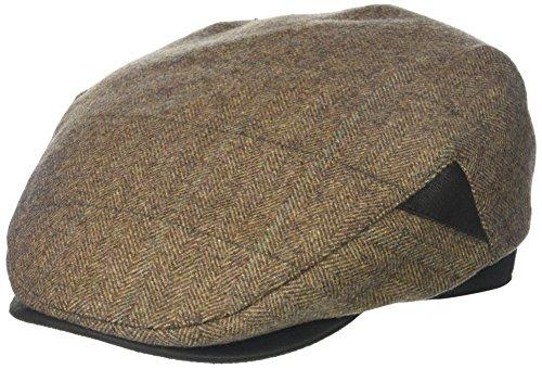 Henschel Men's 100% Italian Wool Herrringbone Plaid Ivy Hat, Brown, Medium