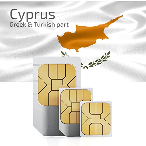 Cyprus Data Card - Cyprus Prepaid 1GB DATA sim card Standard Micro Nano 30 days 3G LTE