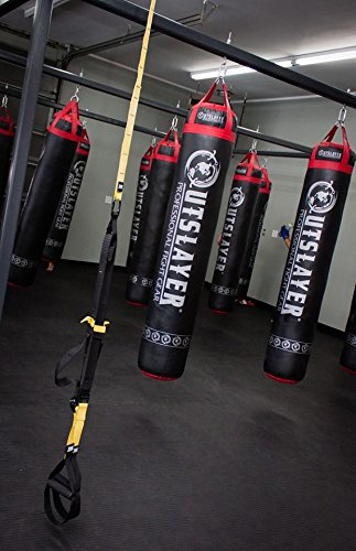 Muay Thai Punching Bag 6ft 150lbs Unfilled Black by Outslayer (Image #4)