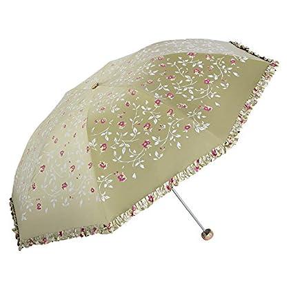 Vinilo mejorado paraguas UV paraguas de sol plegable dom paraguas dom Paraguas (Color : 2