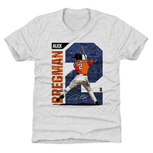 500 LEVEL Houston Baseball Youth Shirt - Kids X-Large (14-16Y) Tri Ash - Alex Bregman Stadium B