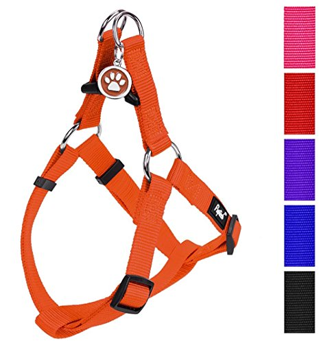 PUPTECK No Pull Dog Harness Adjustable Basic Nylon Step in Puppy Vest Outdoor Walking Chest Girth 15.6-23.6 Medium