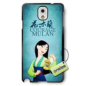 Disney Cartoon Movie MuLan Soft Rubber(TPU) Phone Case & Cover for Samsung Galaxy Note 3 - Black