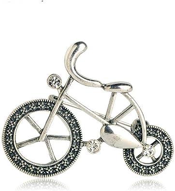QSCVHU Nueva intage Color Plata Antigua Bicicleta Broches de ...