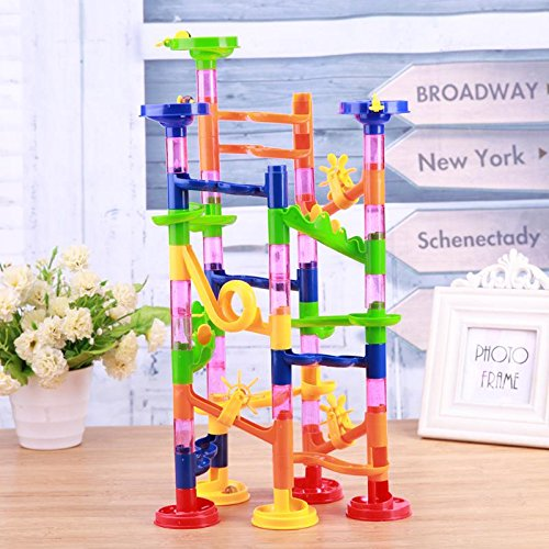 GreenSun TM Kids Educational Toy Tunnel Blocks DIY Toy Assembly Beads Ball Race Track Maze Pipe Fun Children -