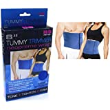 Tummy Trimmer-Waist Trimmer For Men and Women, 8in, Blue, Fully Adjustable,One Size Fits All, Burn Belly Fat Fast, Abdominal Toning Belt, Tighten Stomach Skin, Firm Your Abdominal Muscles, Lower Back Support, Sweat Off Belly Fat Today