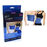 Tummy Trimmer-Waist Trimmer For Men and Women, 8in, Blue,(PACK of 2) Fully Adjustable,One Size Fits All, Burn Belly Fat Fast, Abdominal Toning Belt, Tighten Stomach Skin, Firm Your Abdominal Muscles, Lower Back Support, Sweat Off Belly Fat Today