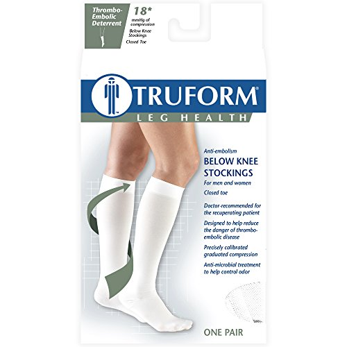 UPC 048503820879, Truform 8808 Anti-Embolism Knee Length Closed Toe 18 mmHg Stockings, Black, XX-Large (Pack of 2)