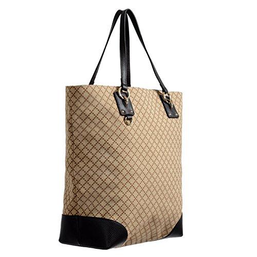 Gucci Medium Shoulder Bag (Gucci Women's Beige Canvas Leather Trimmed Guccissima Print Tote Shoulder Bag)