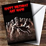Scary Horrible Zombies Horror Personalized Birthday Greetings Card
