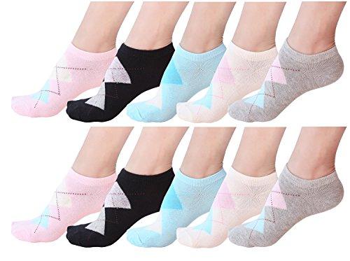 10 Pair Women's Cotton Sneaker Low cut Ankle ()