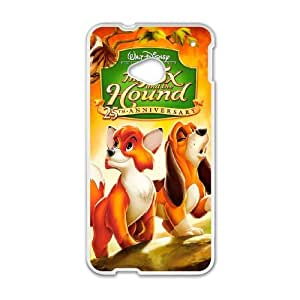 HTC One M7 Cell Phone Case White Fox and the Hound Vjtot