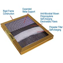 14x20x1 Electrostatic Washable Permanent A/C Furnace Air Filter - Reusable - GOLD FRAME - Lifetime Warranty