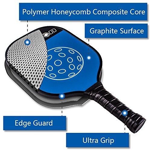 Senston Pala de pádel Unisex Adulto Pala de Tenis Raqueta Paddle Pickleball de Carbono,Azul: Amazon.es: Deportes y aire libre