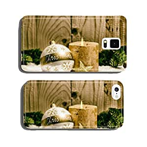 romantic Christmas in front of house cell phone cover case iPhone6