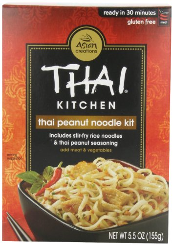 Thai Kitchen Gluten-Free Thai Peanut Stir-Fry Noodles, 5.5 oz. (Pack of 6) (Rice Noodle Ramen compare prices)