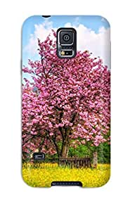 Galaxy S5 Case, Premium Protective Case With Awesome Look - Earth Flower Nature Flower