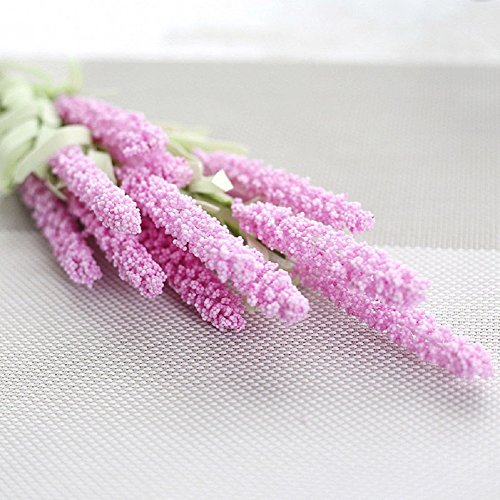 Tulip Floral Sconce (TianBaBa 12 Heads Garden Wedding Bouquet Silk Flowers High Simulation Lavender Home Decor 10pcs(Pink))