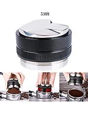 Tongke 53mm Coffee Distributor & Tamper, Dual Head Coffee Leveler Fits for 54mm Portafilter -53MM (Black)