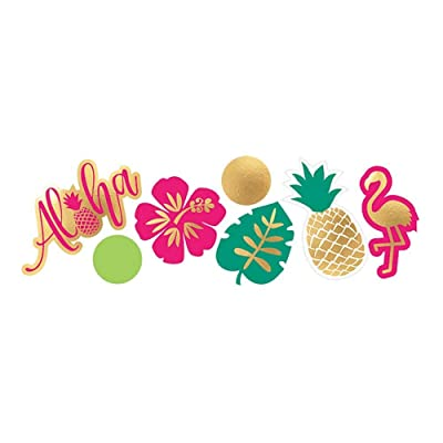 Amscan 360273 Summer Luau Aloha Value Pack Confetti, 1.2 oz, Multicolor: Kitchen & Dining