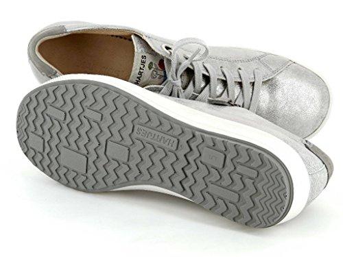 argento 1345 stringate Grau Scarpe grau muschel Hartjes 47762 donna X5ZqP