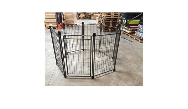 animalmarketonline cerca jaula Valla Caseta para perros gatos Conejos Cavie 107 cm altura: Amazon.es: Productos para mascotas