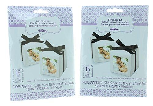 (30ct. Wilton Wedding Favor Photo Box Kit 415-1760)