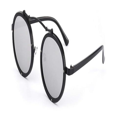 Yangjing-hl Gafas de Sol de Metal para Mujer, diseñador de ...