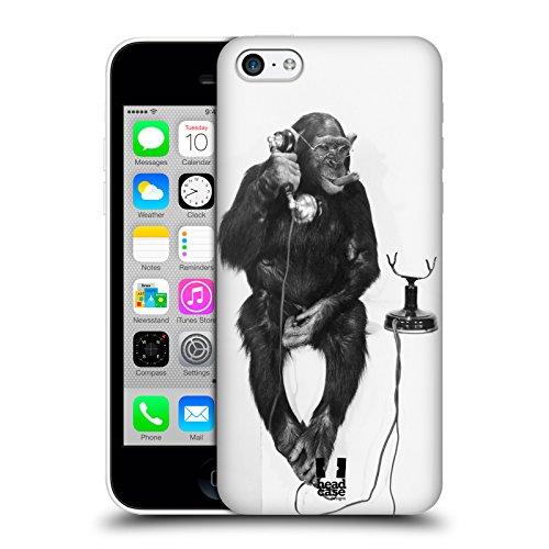 Head Case Designs Affe Am Telefon Komische Tiere Snap-on Schutzhülle Back Case für Apple iPhone 5c