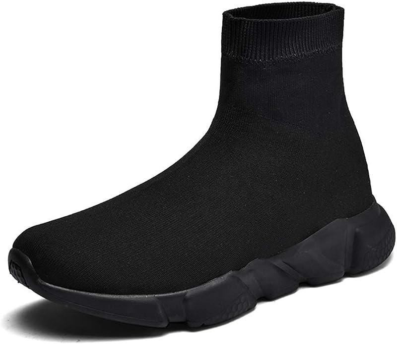 Hombre Mujer Moda Zapatillas de Deporte Ligero Casual Atlético Zapatillas de Correr De Punto Calcetines Zapatos: Amazon.es: Zapatos y complementos