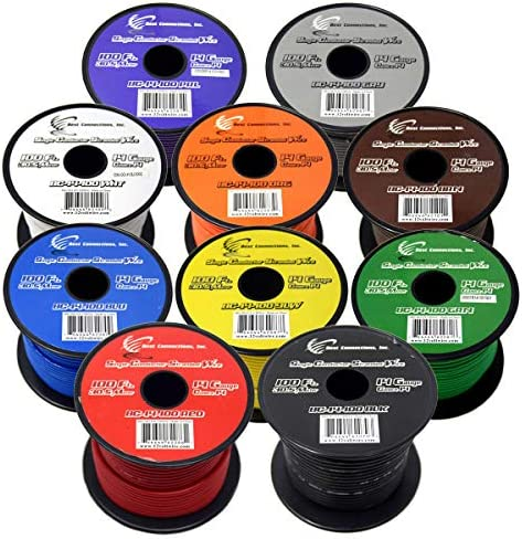(10) SPOOLS 100′ FEET 14 GAUGE BOAT AUTOMOTIVE WIRE AUTO POWER CABLE