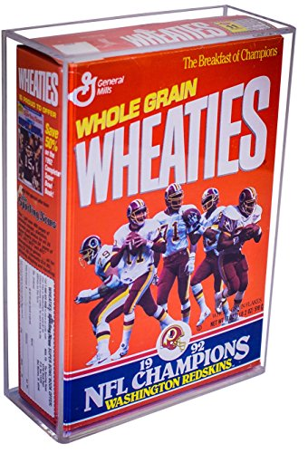 Deluxe Clear Acrylic Wheaties Cereal Box Display Case with Wall Mount (A020)