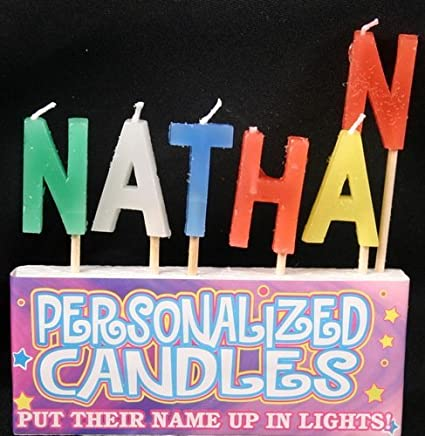 Nathan Letter Shaped Birthday Candles By Kalan