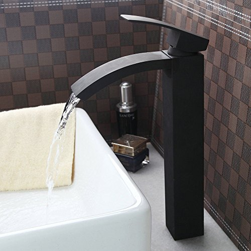 Yanksmart Oil Rubbed Black Bronze Bathroom Counter Top Basin Lavatory Sink Mixer Tap Faucet Single Lever Hot And Cold (Sink Top Mount Lavatory)
