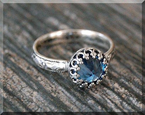 handmade Ring Sterling silver Ring December birthstone ring Purple zircon ring Sterling silver zircon ring Zircon Ring