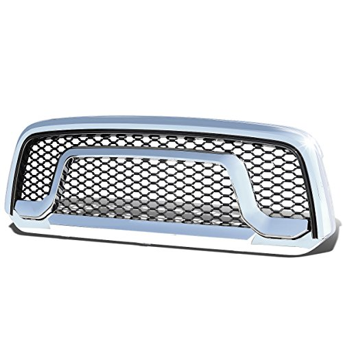 - For RAM 1500 ABS Rebel Style Front Bumper/Hood Grille/Grill (Chrome/Black)