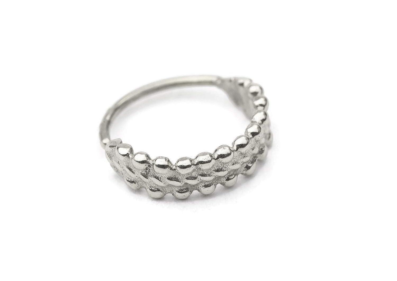 Cartilage Earring Indian Style 925 Sterling Silver Handmade Helix Piercing Jewelry Ring in 18 Gauge 9//32 Diameter